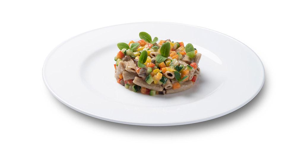 foto piatto Sedanini 30-70 saltati con ragout di verdure